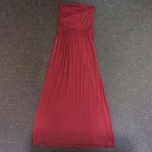 Vanilla Bay Strapless Maxi Dress